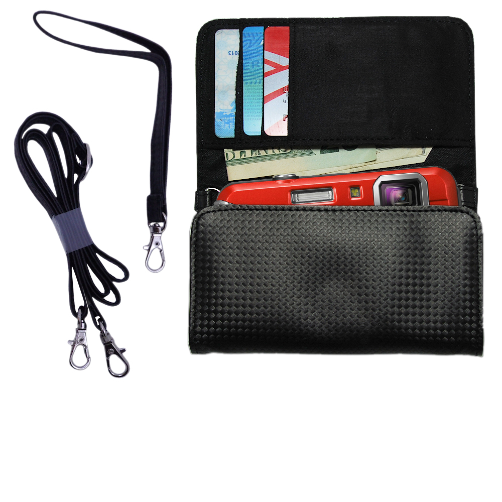 Purse Handbag Case for the Panasonic Lumix DMC-TS25  - Color Options Blue Pink White Black and Red