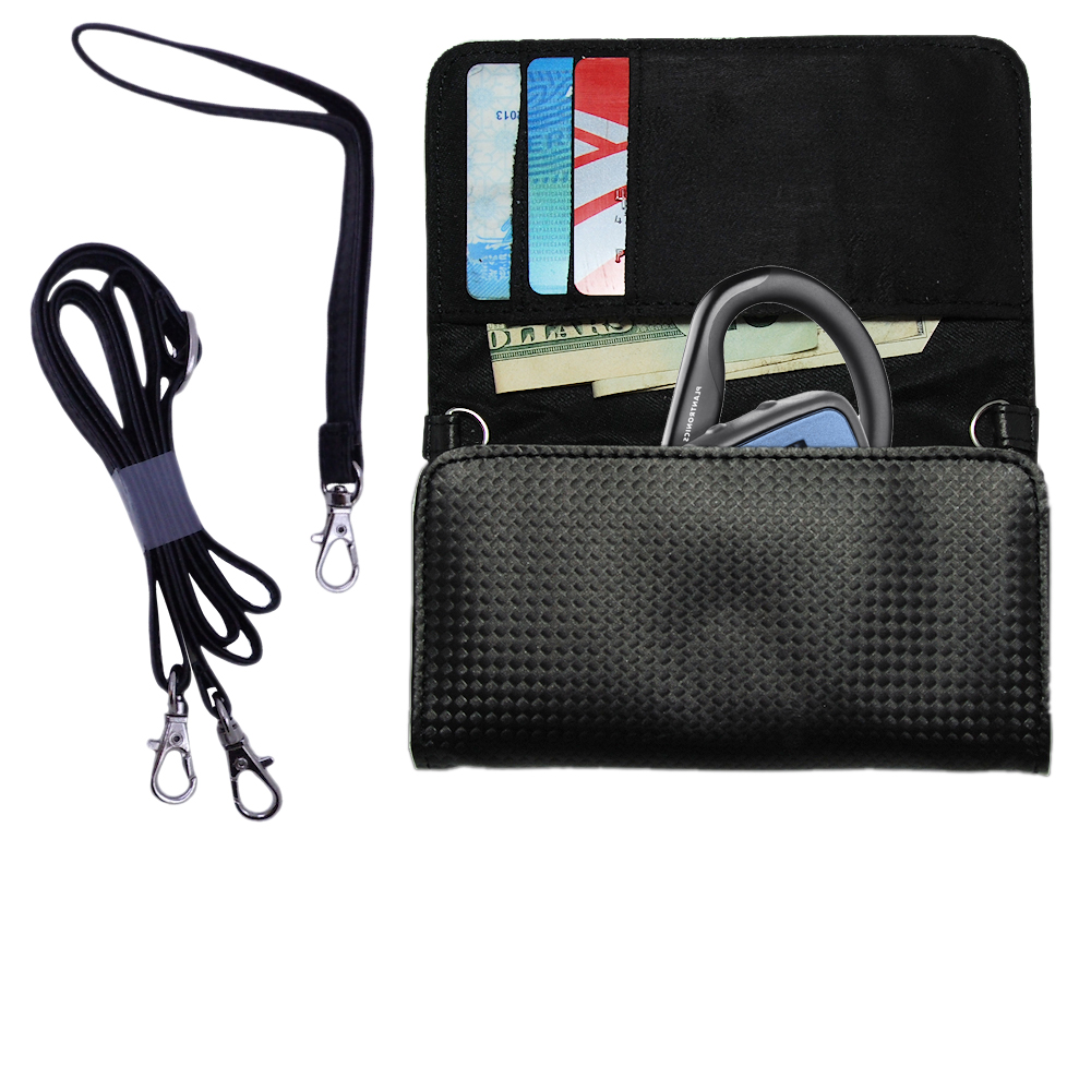 Purse Handbag Case for the Plantronics Explorer 370  - Color Options Blue Pink White Black and Red