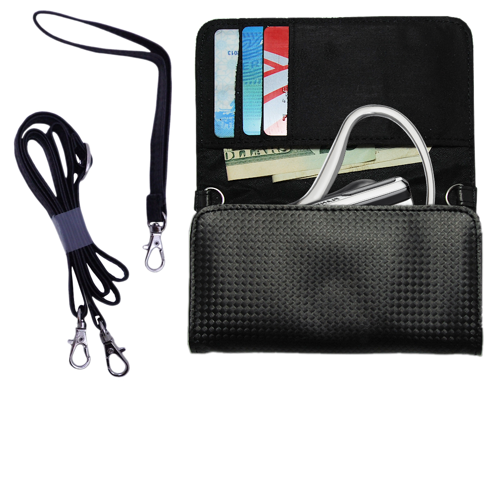 Purse Handbag Case for the Plantronics Explorer 395  - Color Options Blue Pink White Black and Red