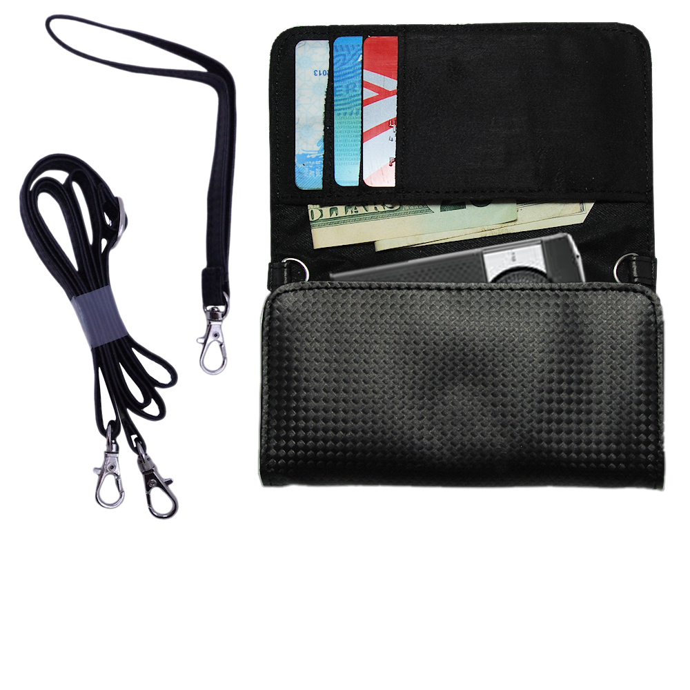 Purse Handbag Case for the Plantronics K100 In-Car Speakerphone  - Color Options Blue Pink White Black and Red