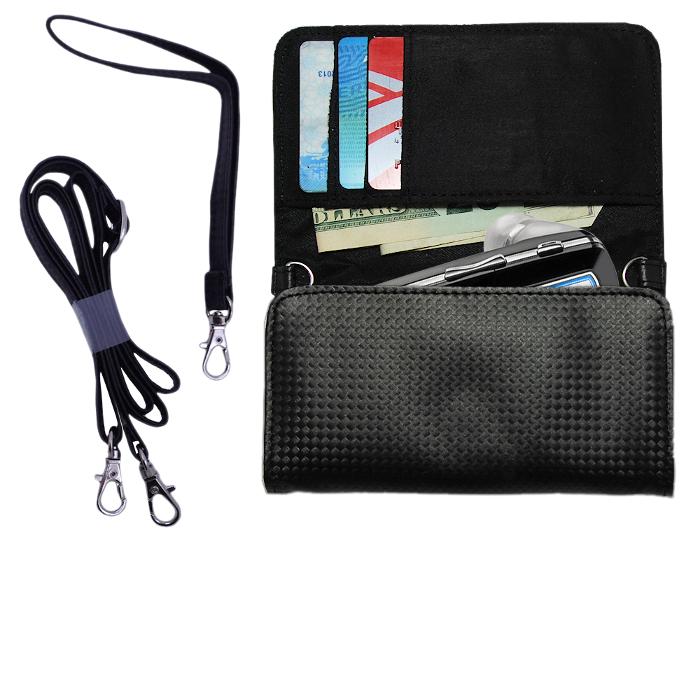 Purse Handbag Case for the Plantronics Voyager 815  - Color Options Blue Pink White Black and Red
