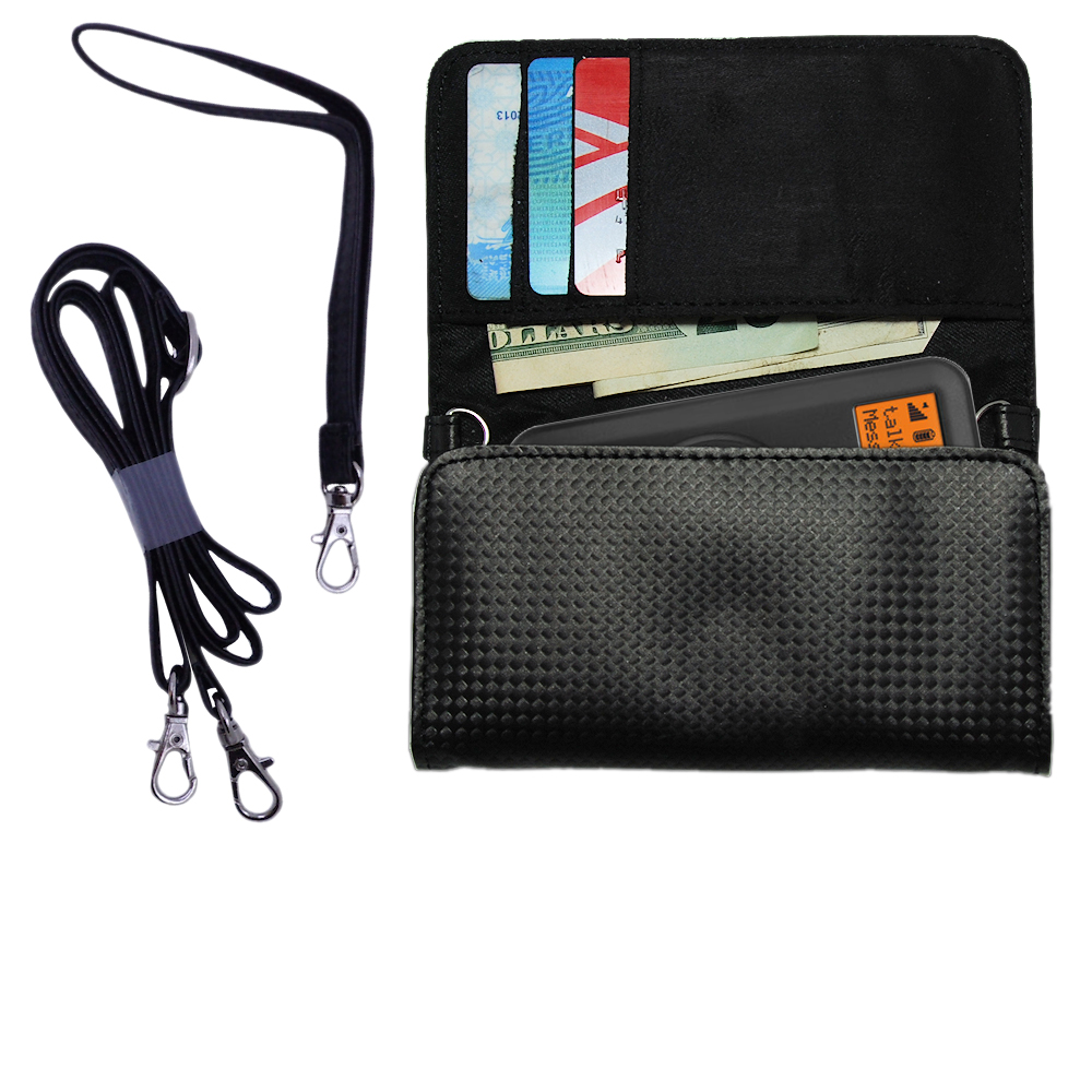 Purse Handbag Case for the PURE Move 2500 with both a hand and shoulder loop - Color Options Blue Pink White Black and Red