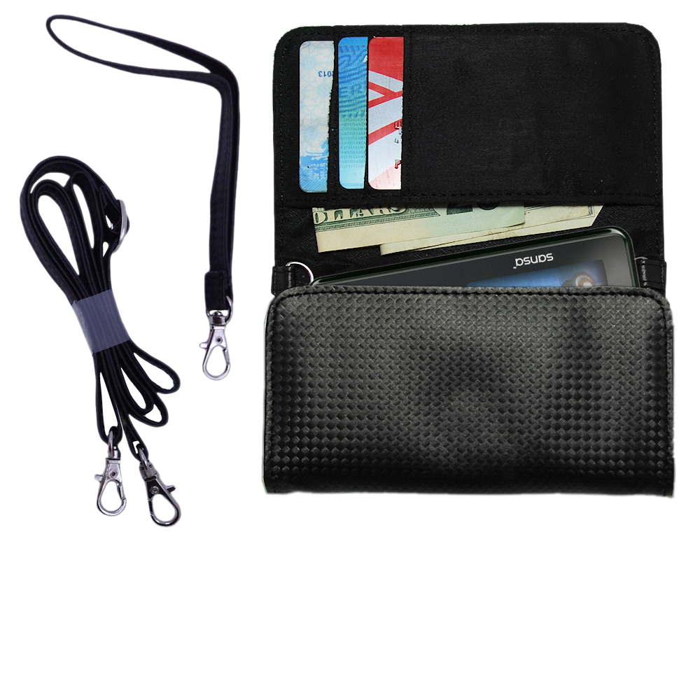 Purse Handbag Case for the Sandisk Sansa c240  - Color Options Blue Pink White Black and Red