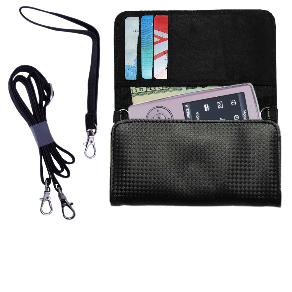 Purse Handbag Case for the Sony Walkman NWZ-A805  - Color Options Blue Pink White Black and Red