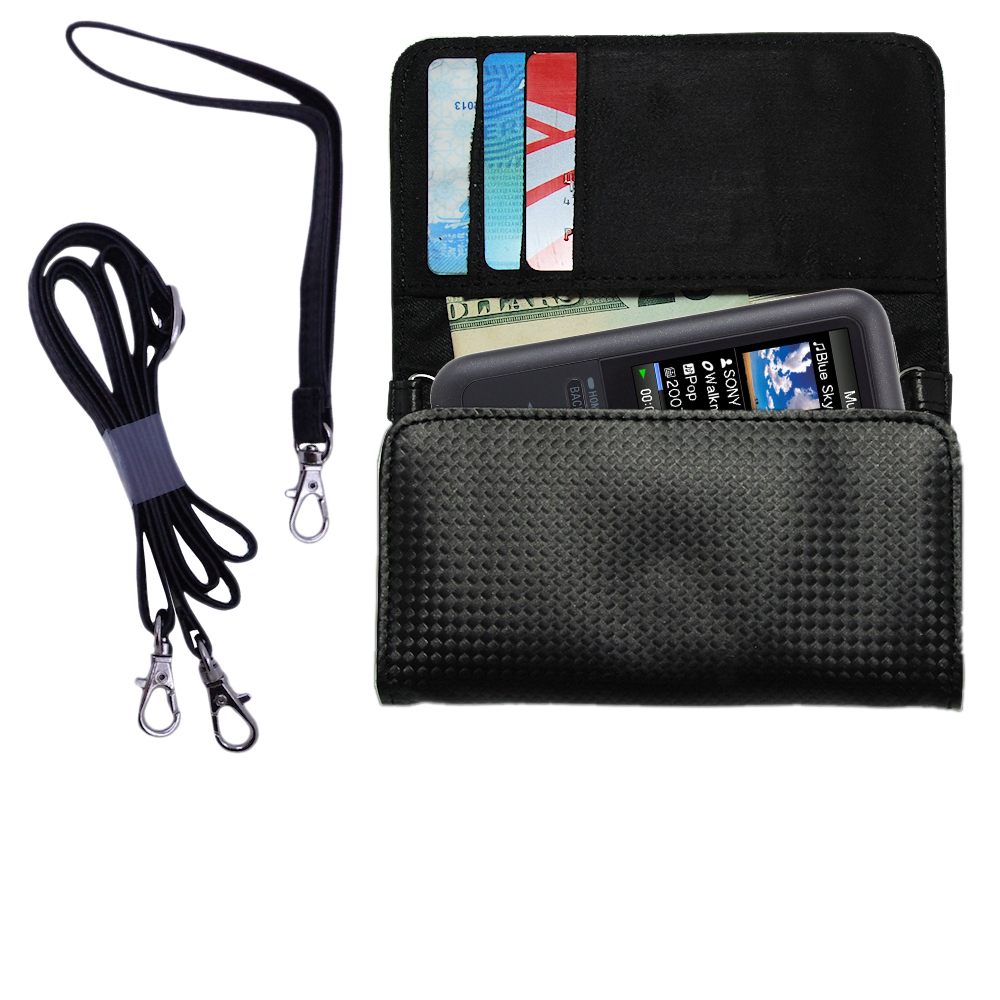 Purse Handbag Case for the Sony Walkman NWZ-S616  - Color Options Blue Pink White Black and Red