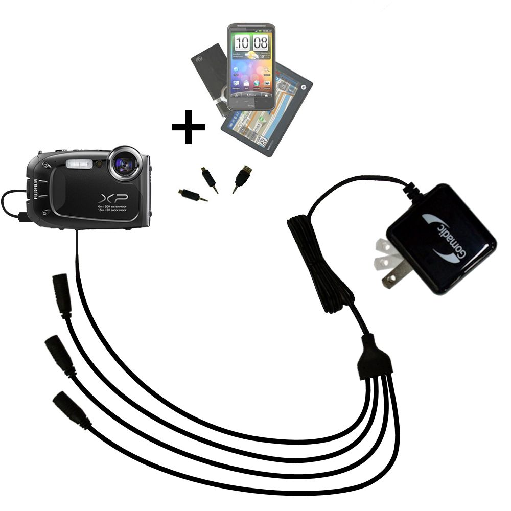 Gomadic USB Charging Data Coiled Cable designed for the Fujifilm Finepix XP60 Will charge and data sync with one unique TipExchange enabled cable