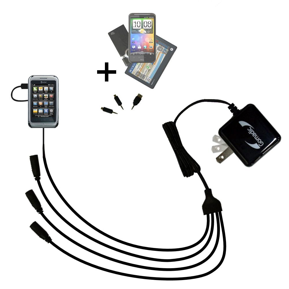 Quad output Wall Charger includes tip for the LG Arena