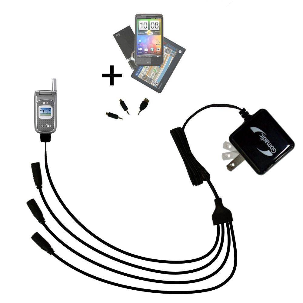 Quad output Wall Charger includes tip for the LG C1500