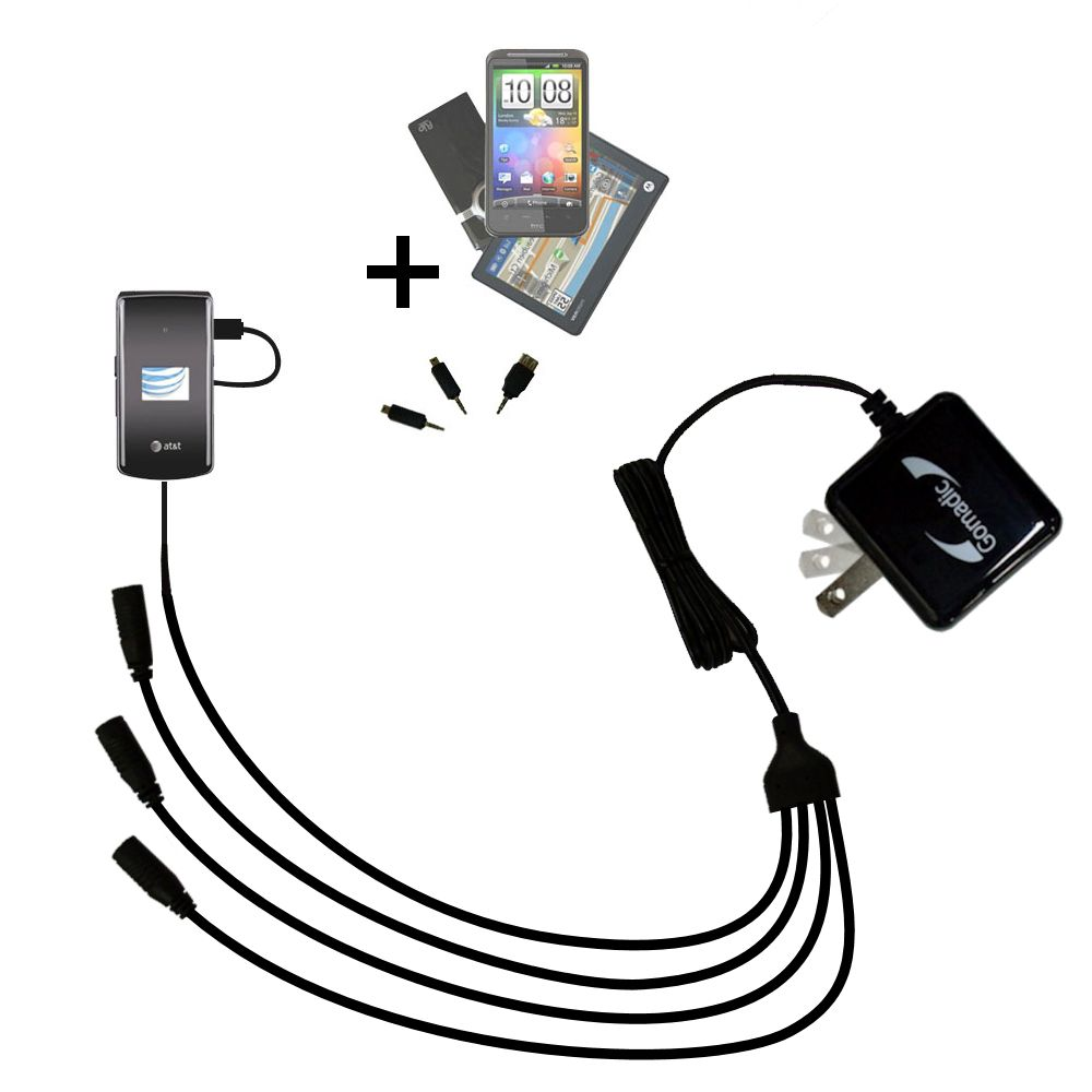 Quad output Wall Charger includes tip for the LG CU515