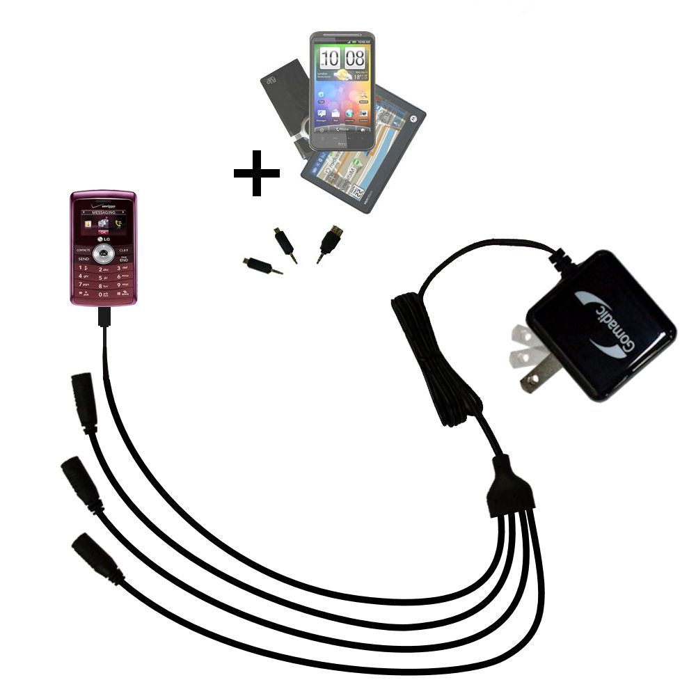 Quad output Wall Charger includes tip for the LG VX9200