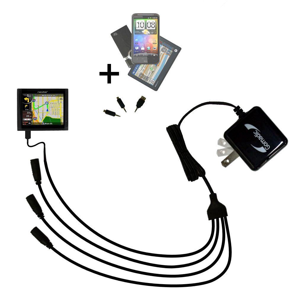 Quad output Wall Charger includes tip for the Nextar ME
