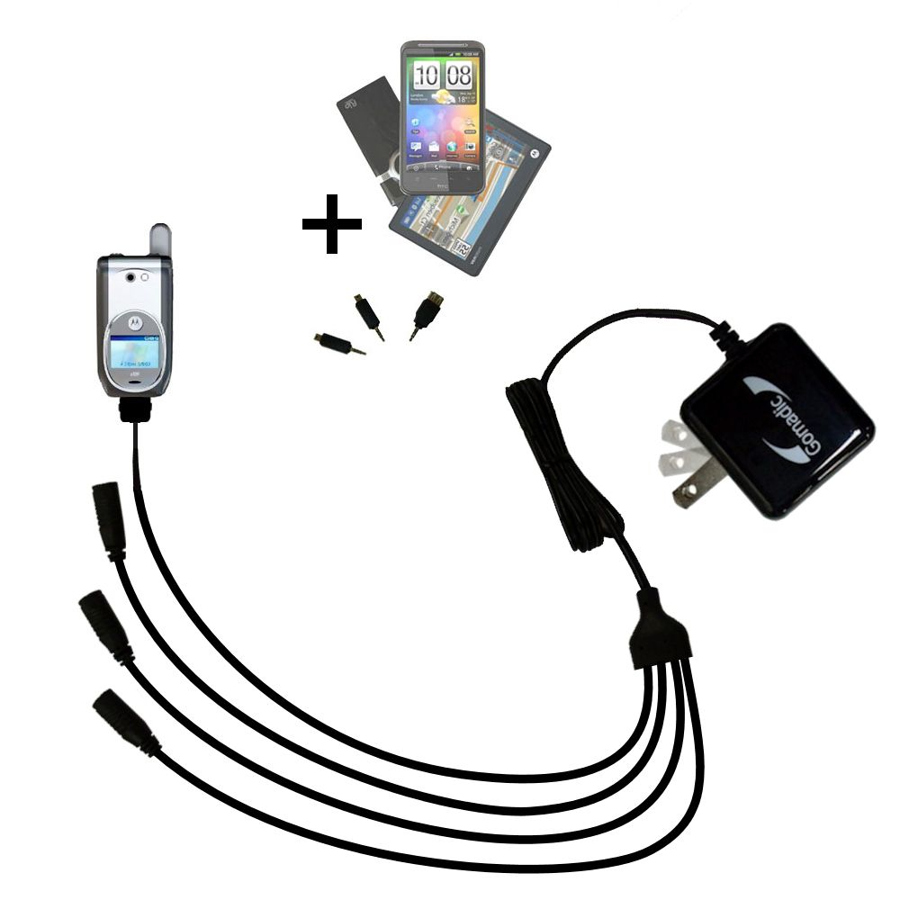 Quad output Wall Charger includes tip for the Nextel i920 i930