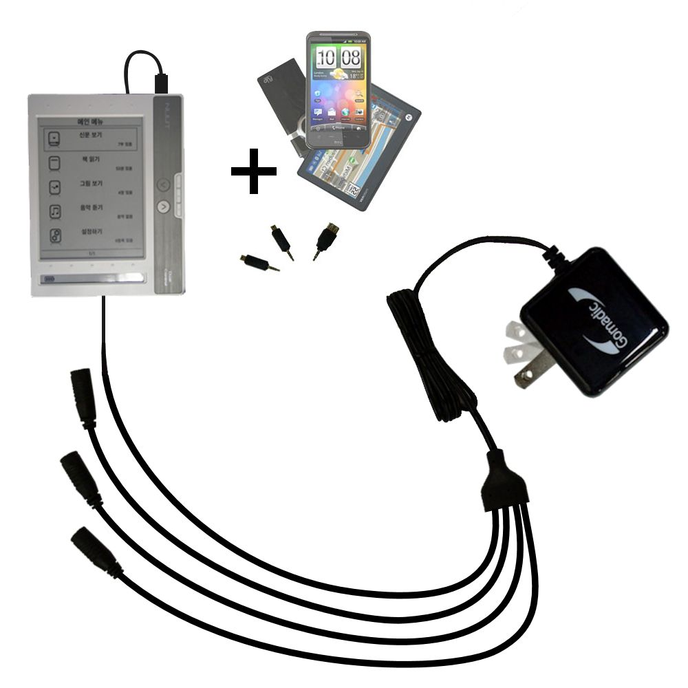 Quad output Wall Charger includes tip for the NUUTbook NUUT2