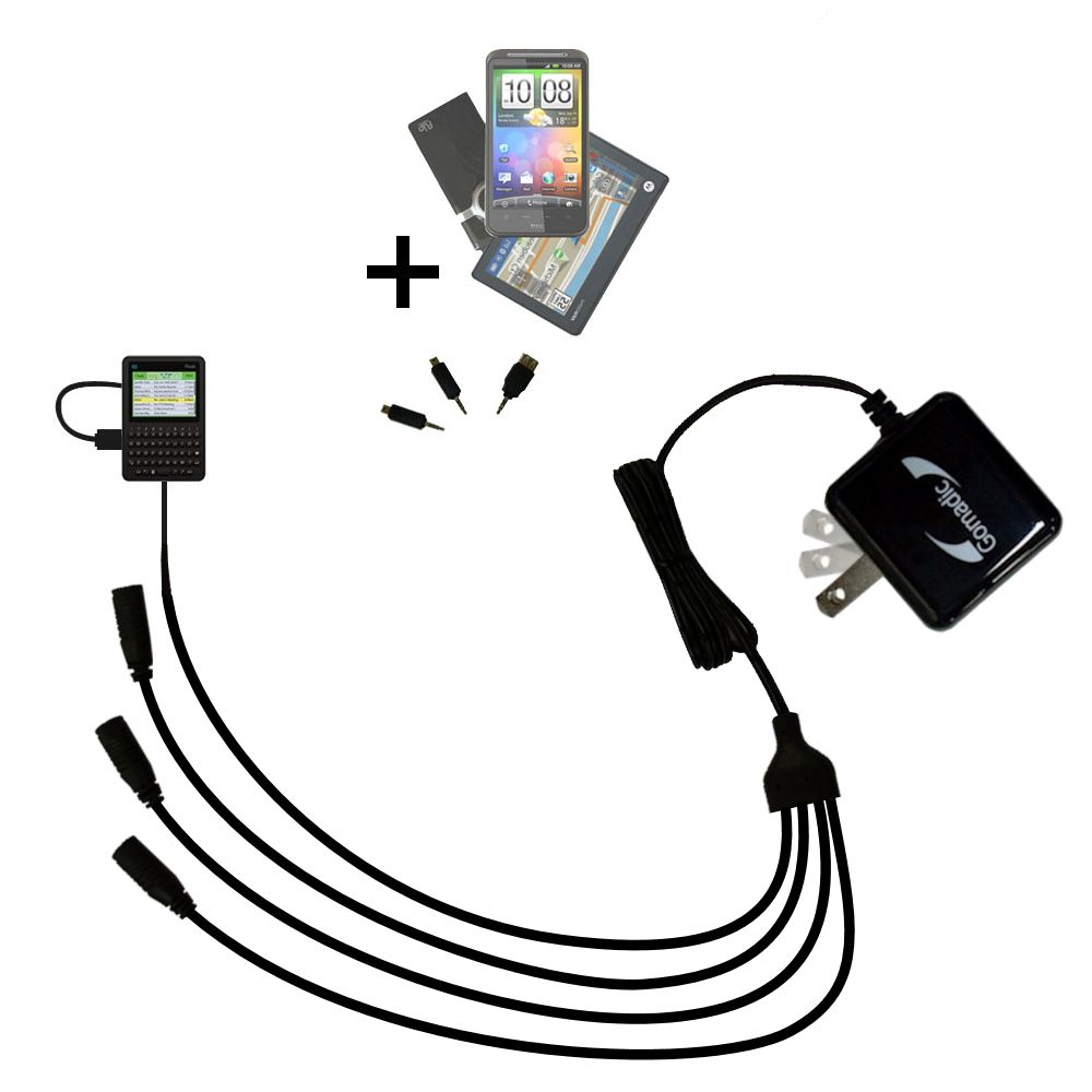 Quad output Wall Charger includes tip for the Peek GetPeek Pronto