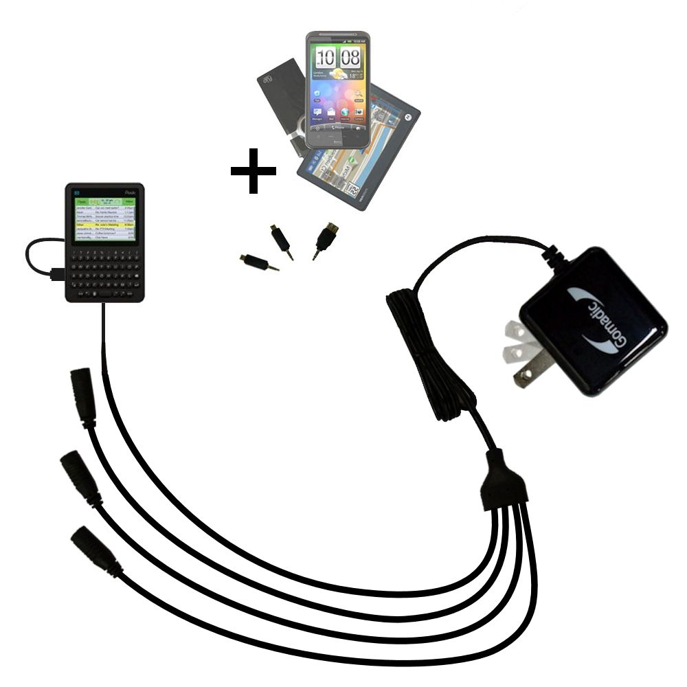 Quad output Wall Charger includes tip for the Peek GetPeek