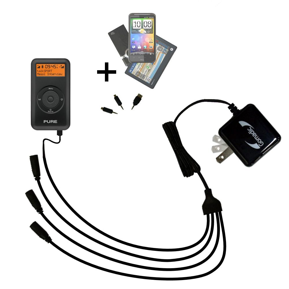 Quad output Wall Charger includes tip for the PURE Move 2500