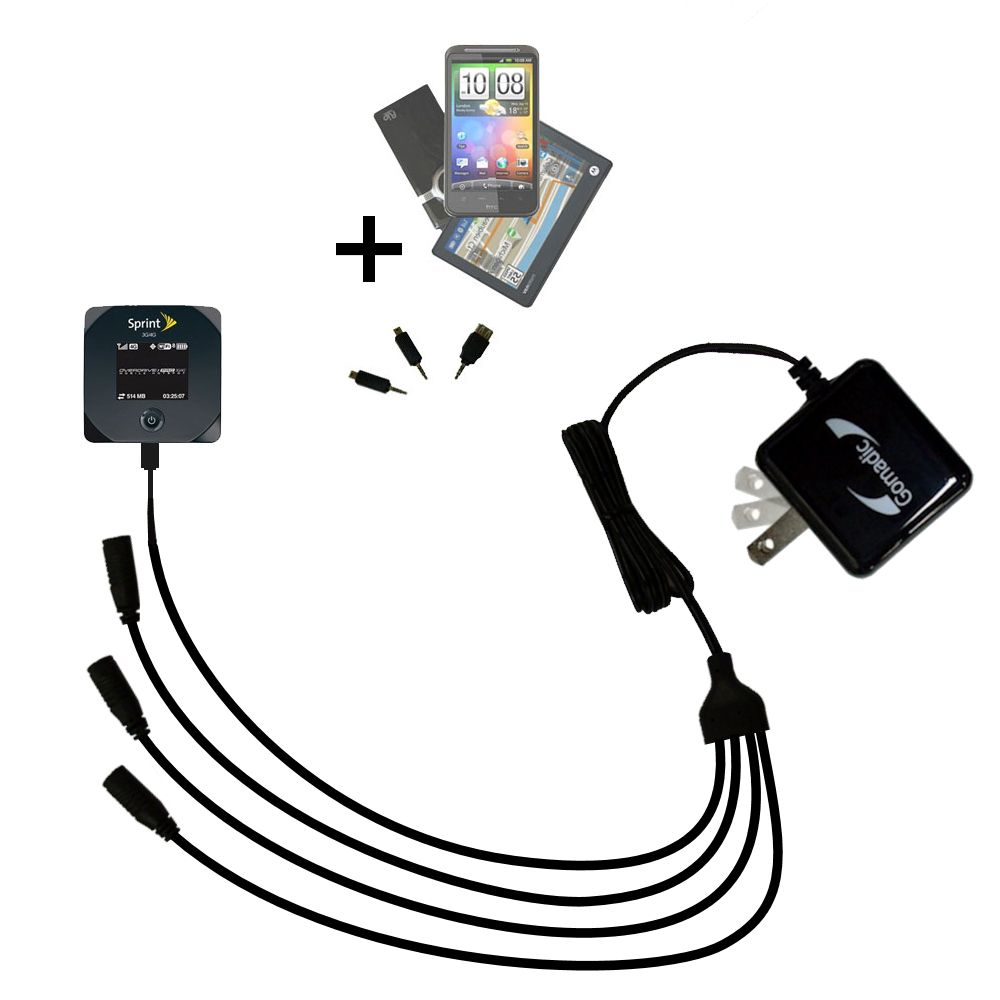 Quad output Wall Charger includes tip for the Sierra Wireless 802S Mobile Hotspot
