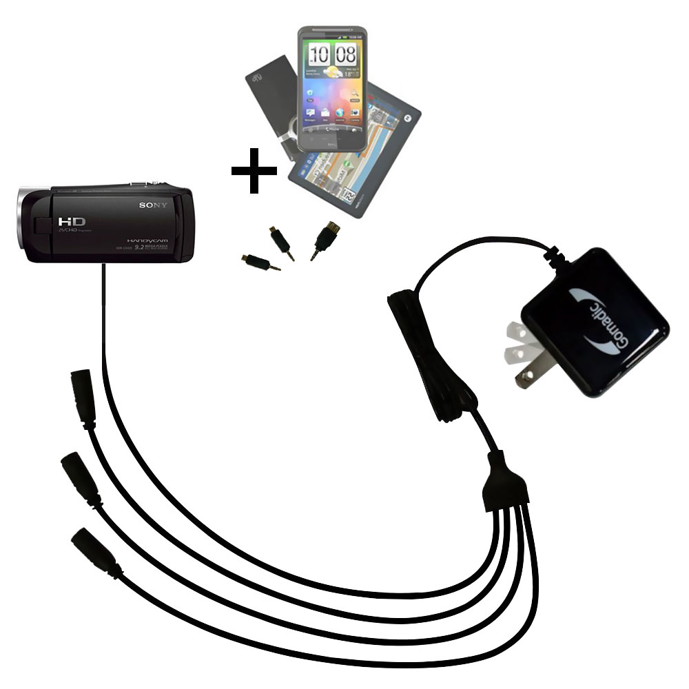 PJ440 includes Gomadic Home and Car Chargers at a Money Saving Price Based on TipExchange Technology Essential Gomadic AC //DC Charge Accessory Bundle Kit for the Sony HDR-PJ440