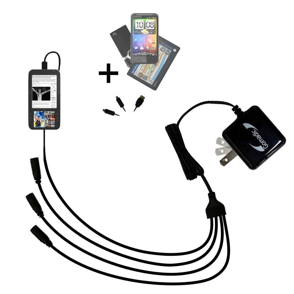 Quad output Wall Charger includes tip for the Spring Design Alex