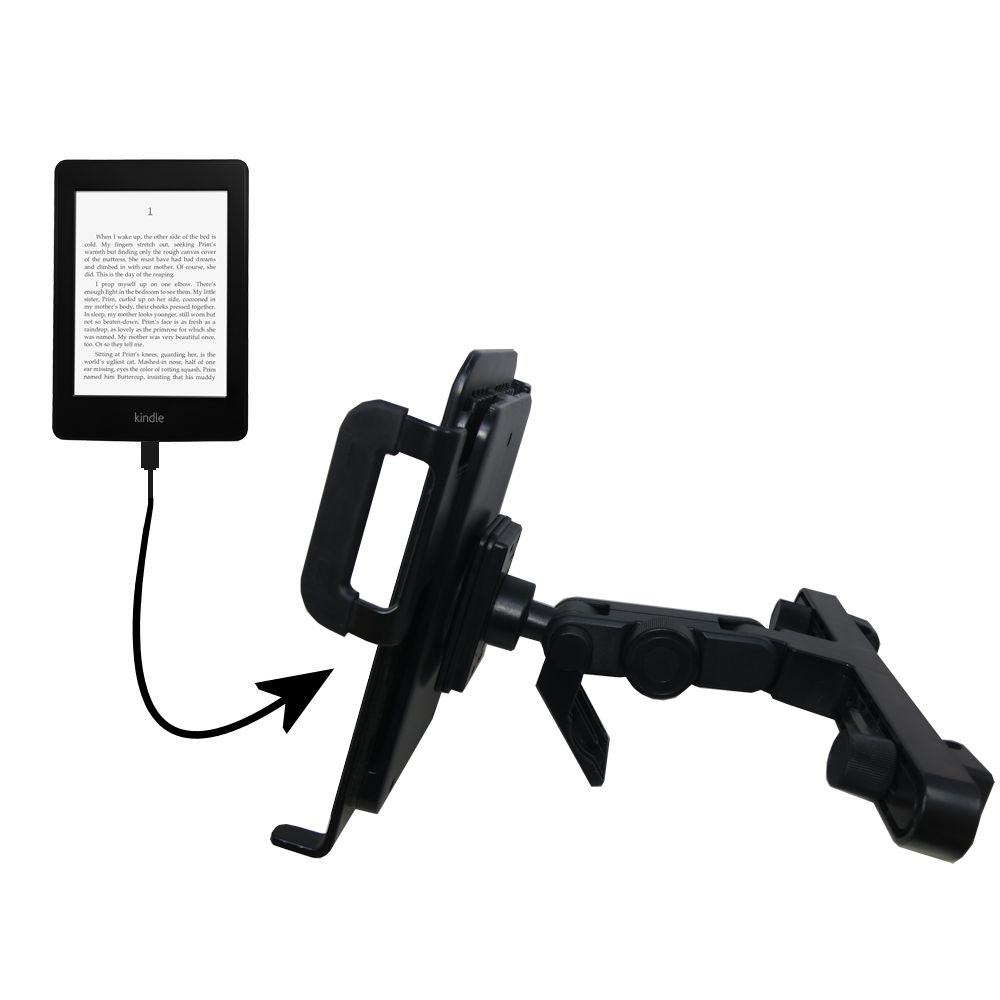 Headrest Holder compatible with the Amazon Kindle Paperwhite