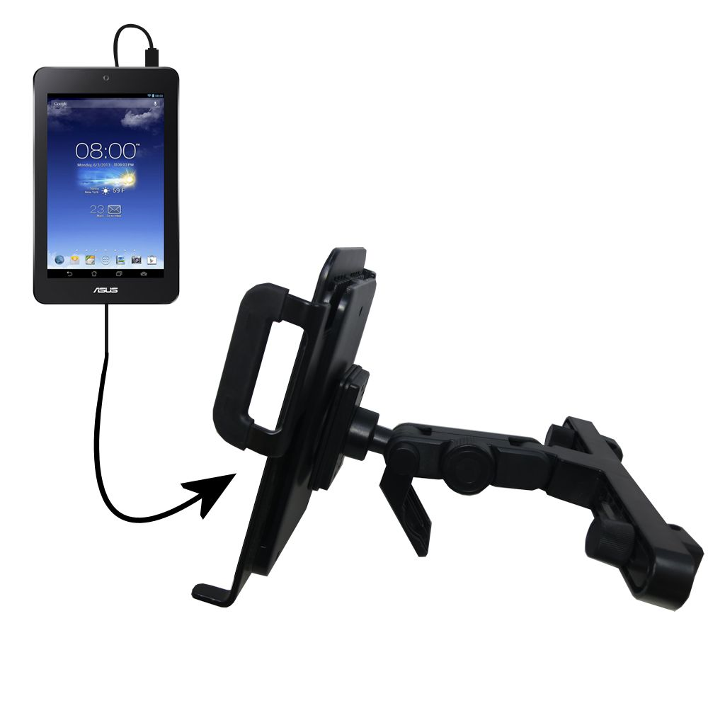Headrest Holder compatible with the Asus MeMO Pad HD7