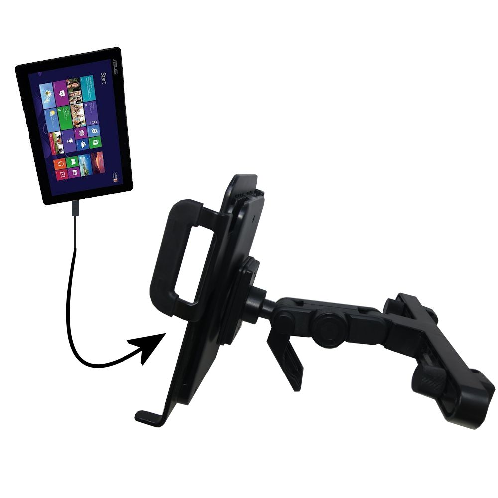 Headrest Holder compatible with the Asus Transformer T100 T100TA-H1-GR T100TA-C1-GR