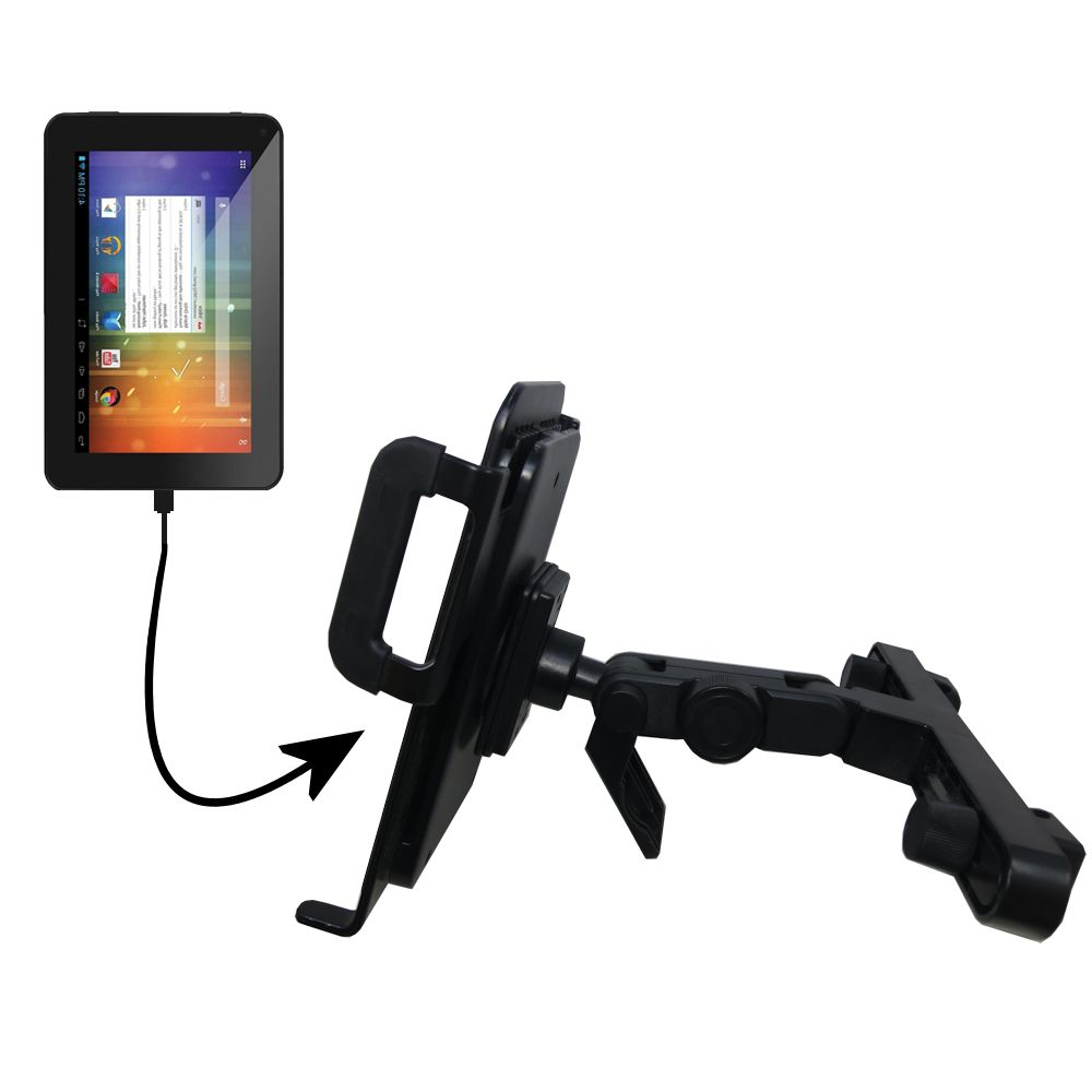 Headrest Holder compatible with the Double Power DOPO EM63 7 inch tablet