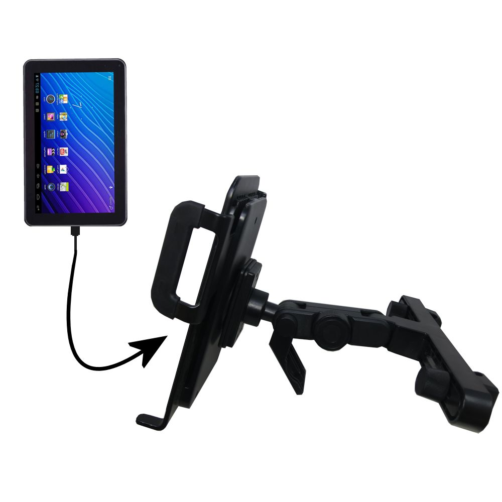 Headrest Holder compatible with the Double Power DOPO GS-918 9 inch tablet