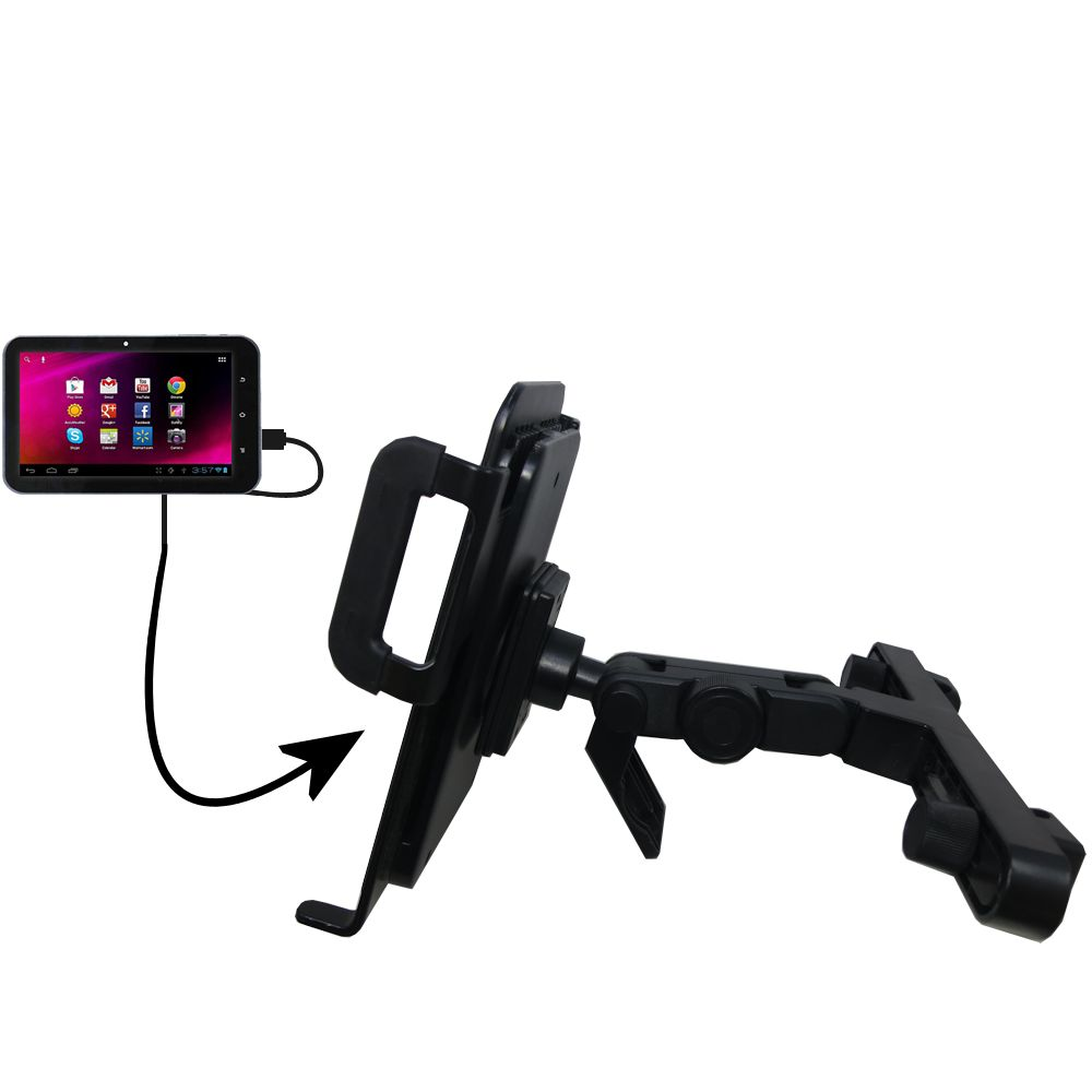 Headrest Holder compatible with the HKC 7 Tablet P771A