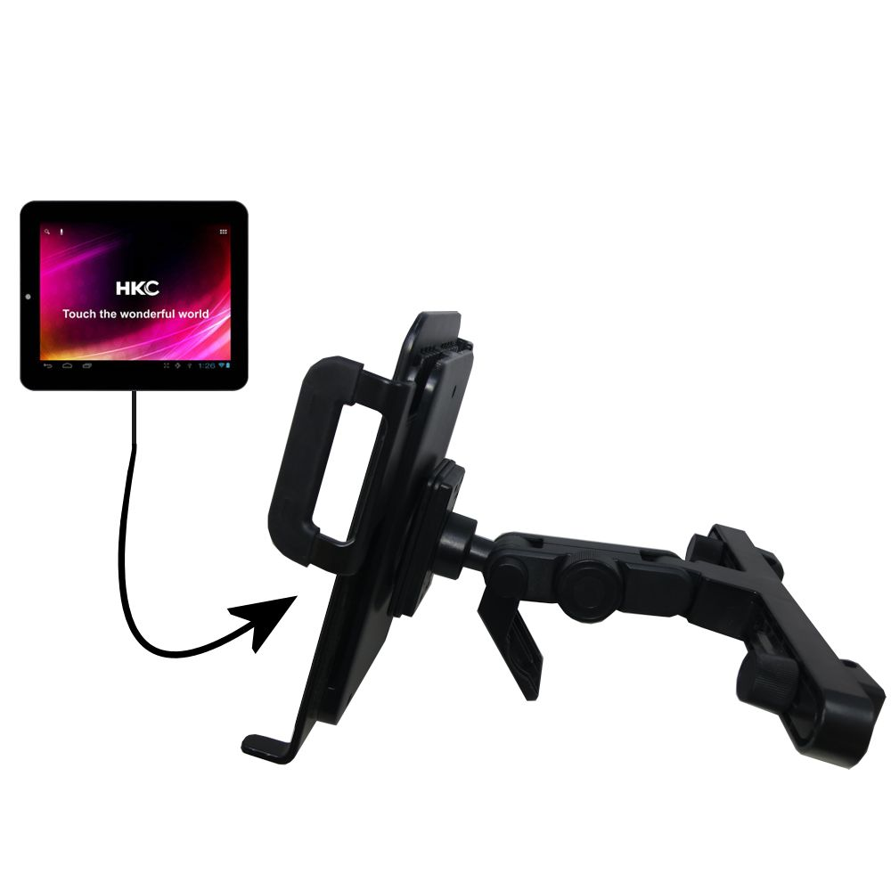 Headrest Holder compatible with the HKC P886A BK BBL APK Tablet