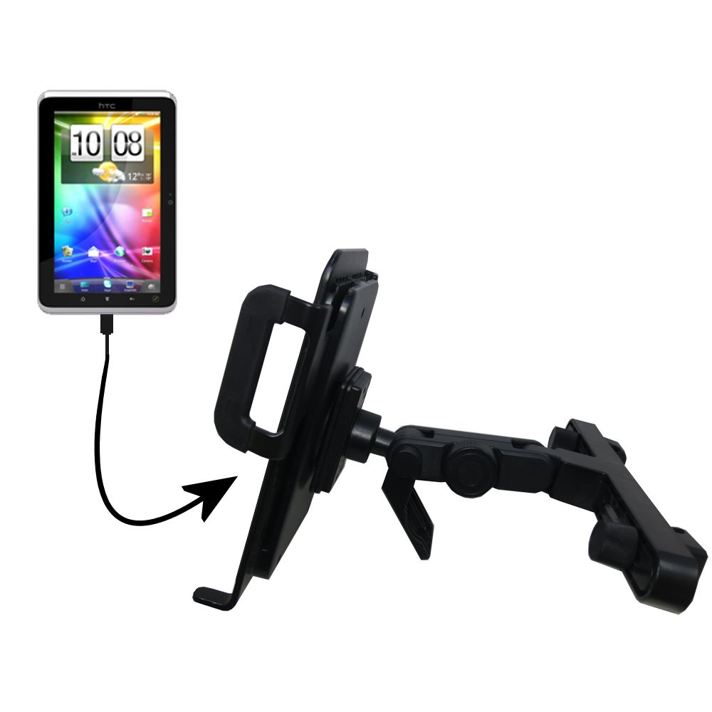 Headrest Holder compatible with the HTC Flyer