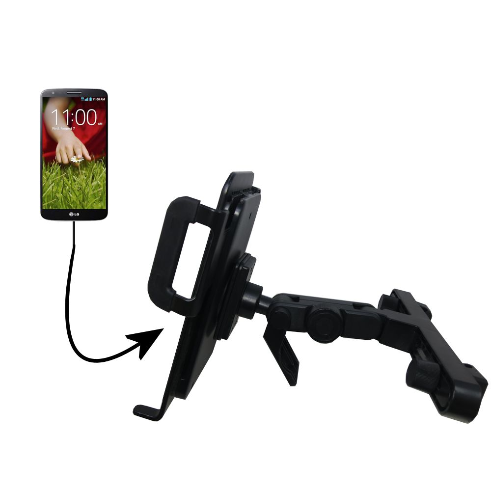 Headrest Holder compatible with the LG G Pad