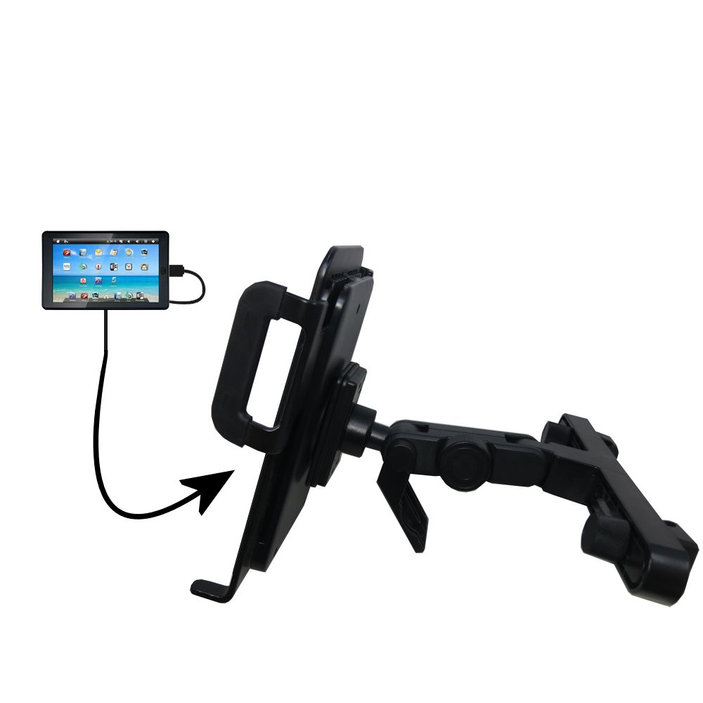 Headrest Holder compatible with the Sylvania SYTAB7MX 7 inch Tablet