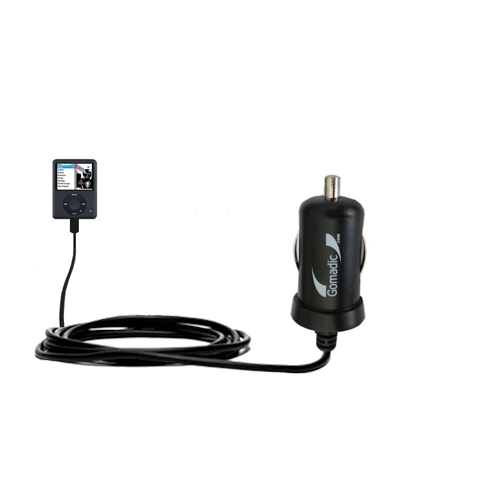 Mini Car Charger compatible with the Apple Nano Video Gen 3