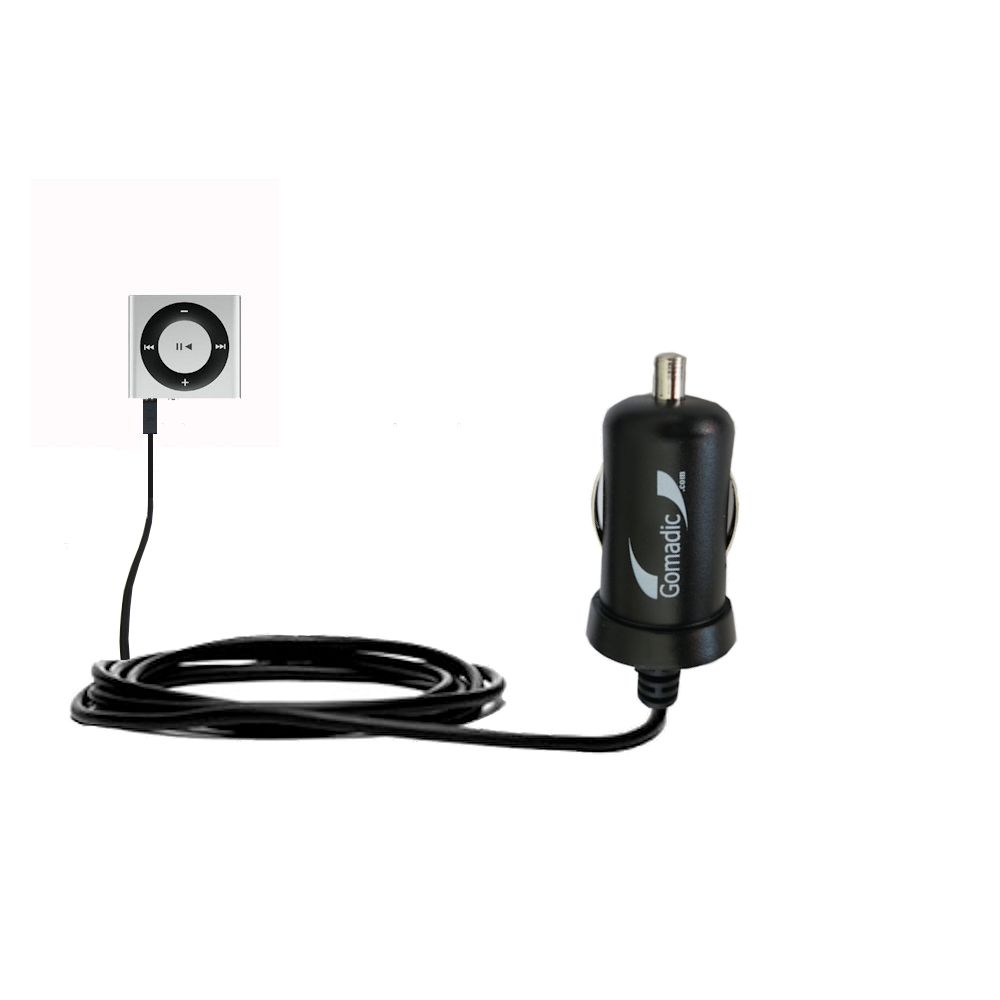 Mini Car Charger compatible with the Apple Shuffle