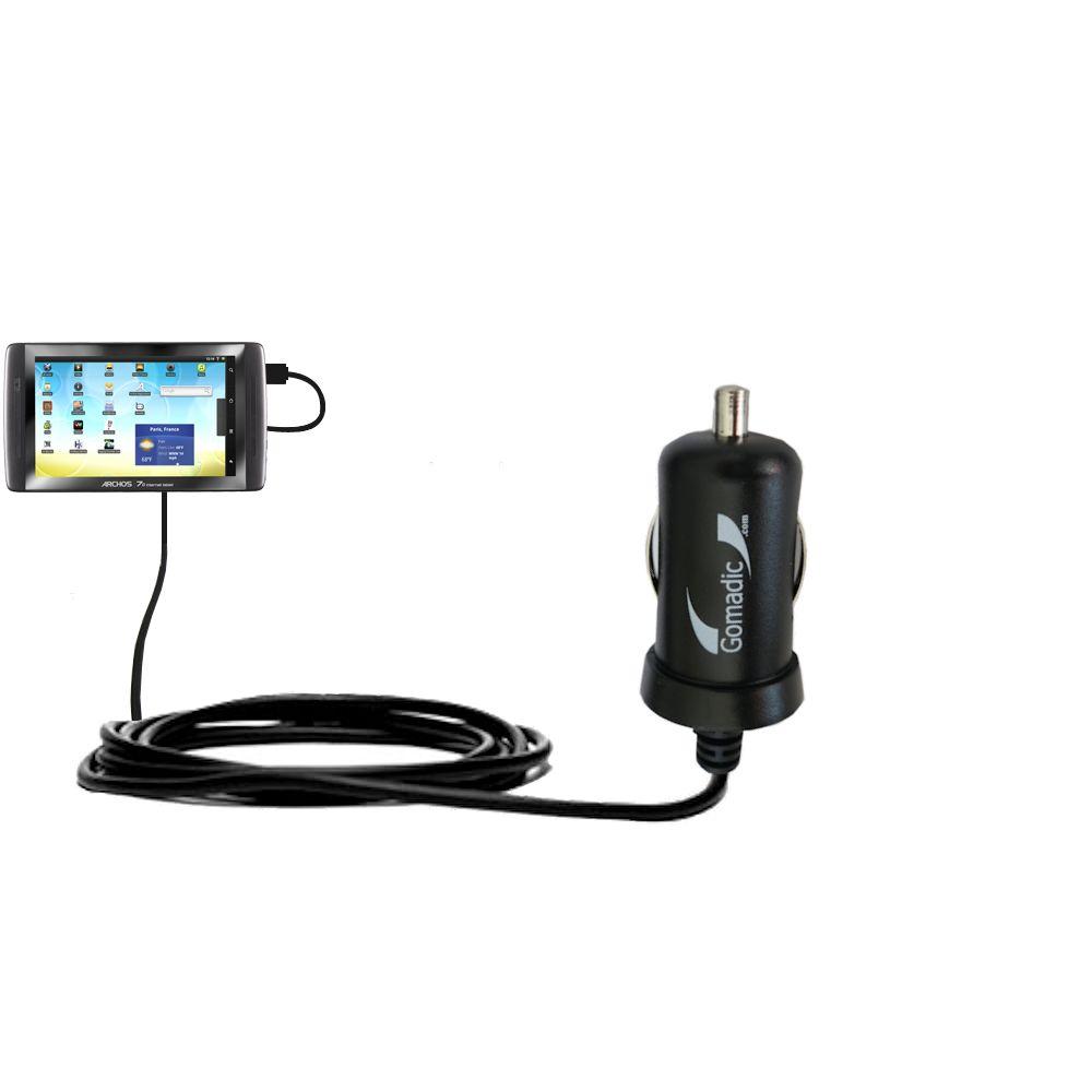 Mini Car Charger compatible with the Archos 70 / 70b Titanium