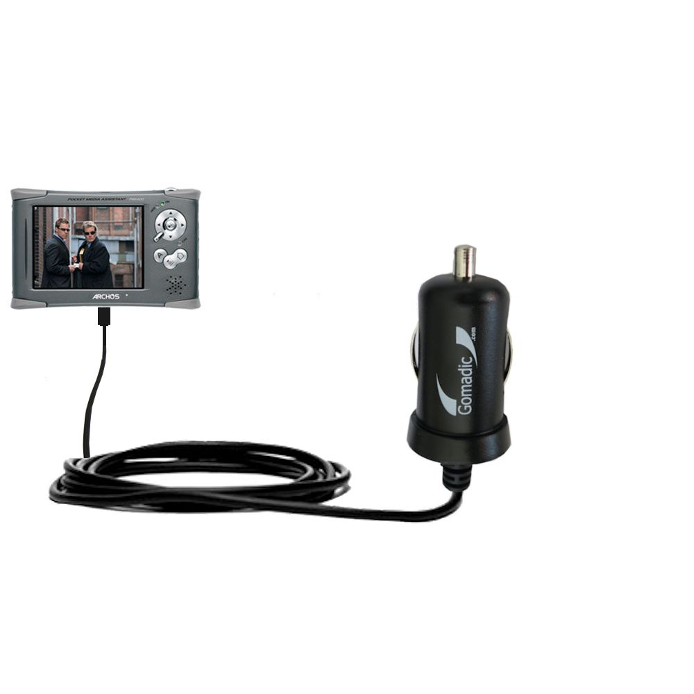 Mini Car Charger compatible with the Archos PMA 400