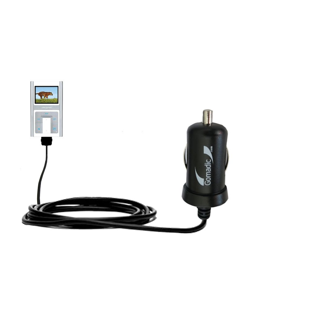 Mini Car Charger compatible with the Creative Zen Sleek Photo