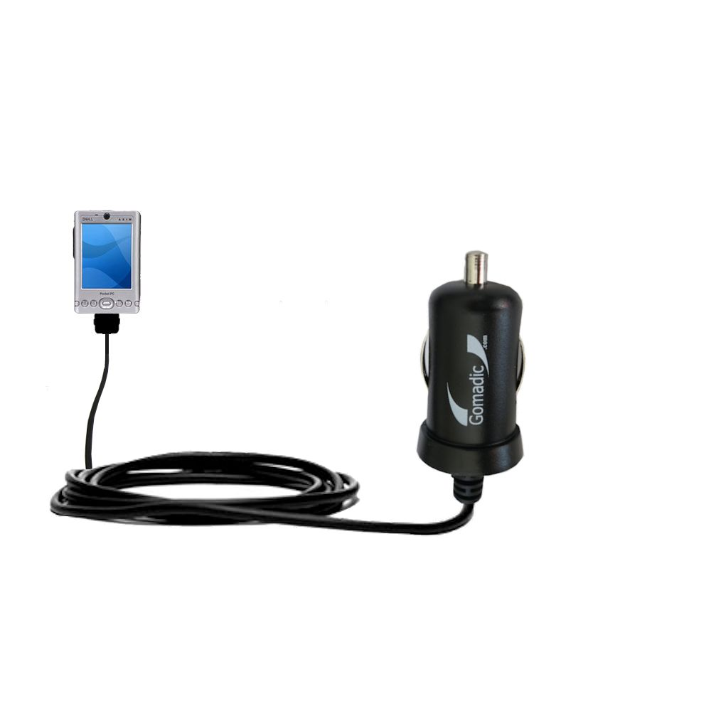 Mini Car Charger compatible with the Dell Axim x3i