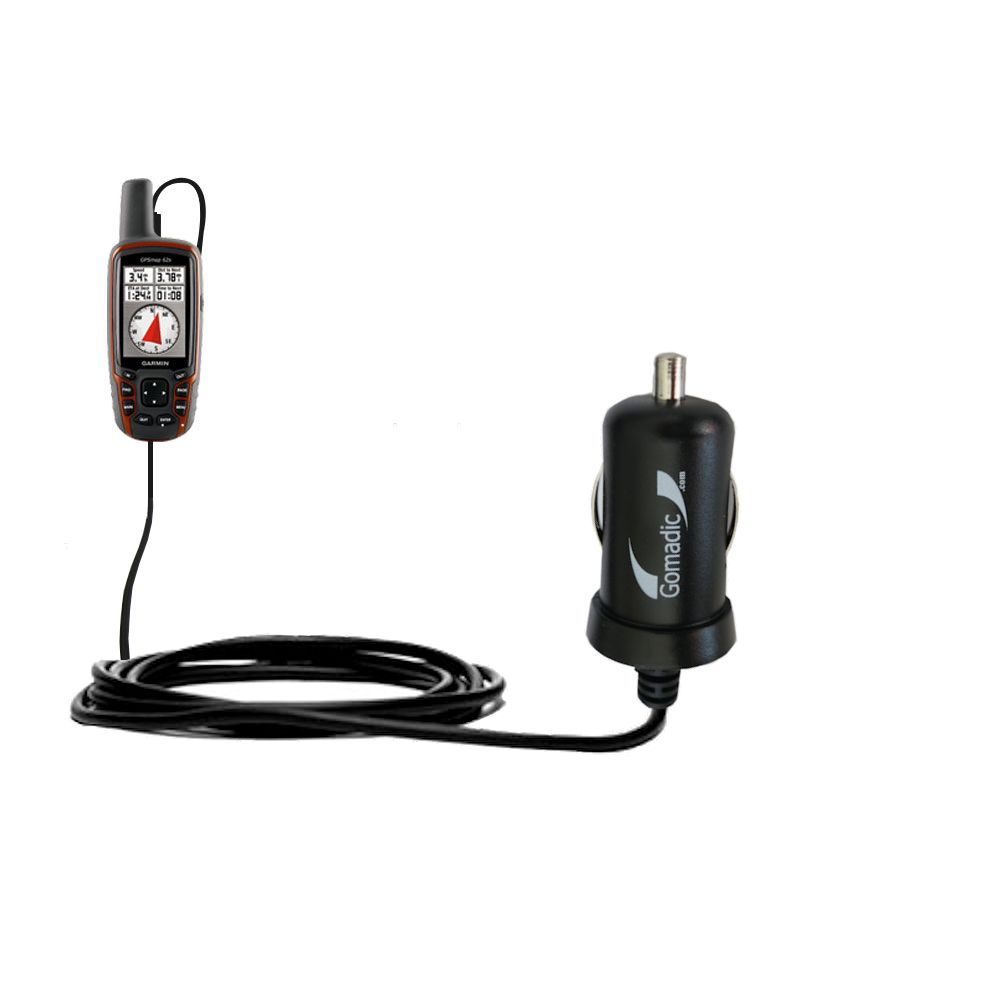 Mini Car Charger compatible with the Garmin  GPSMap 62