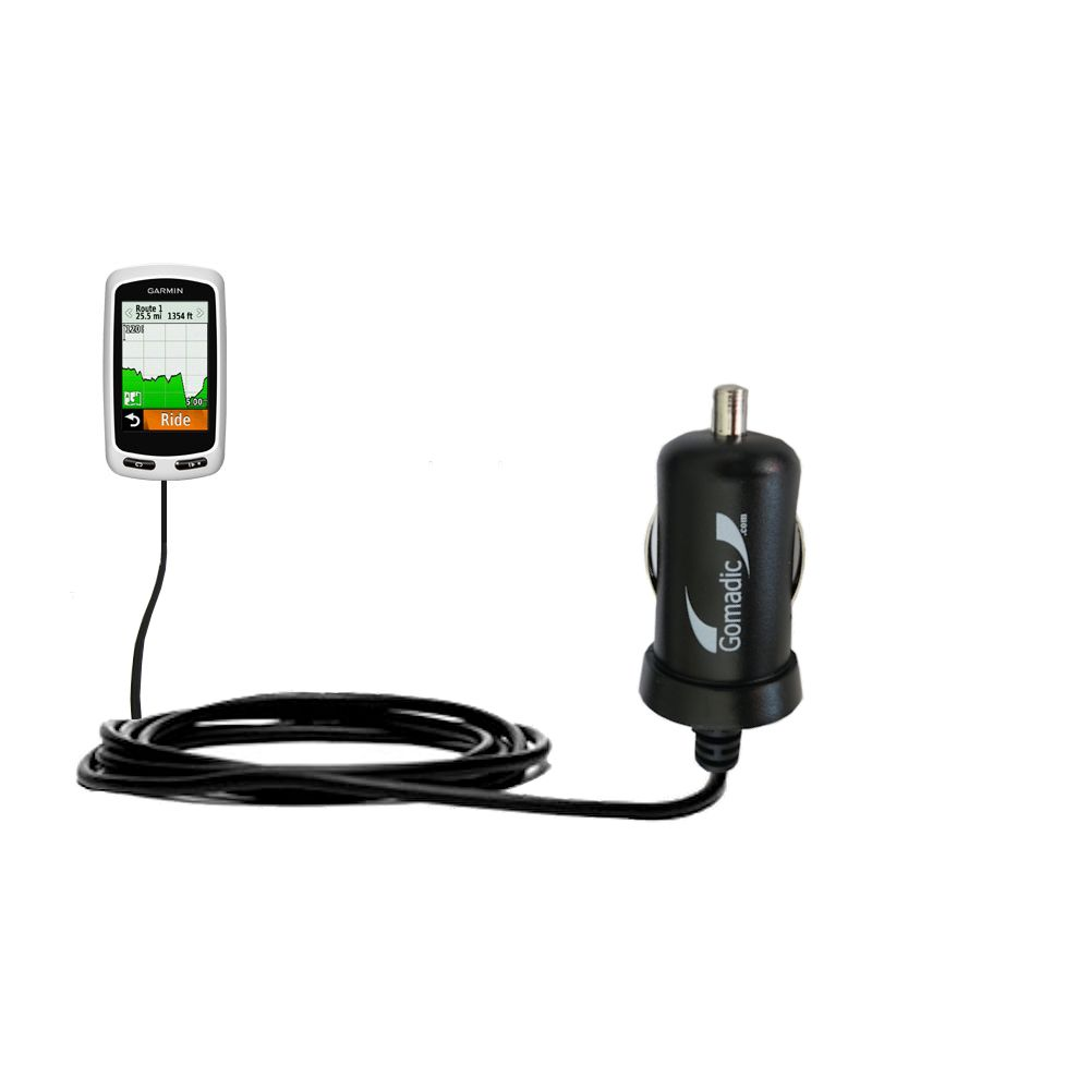 Mini Car Charger compatible with the Garmin Edge 1000