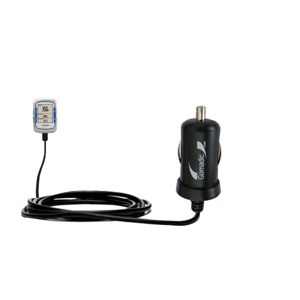 Mini Car Charger compatible with the Garmin EDGE 500