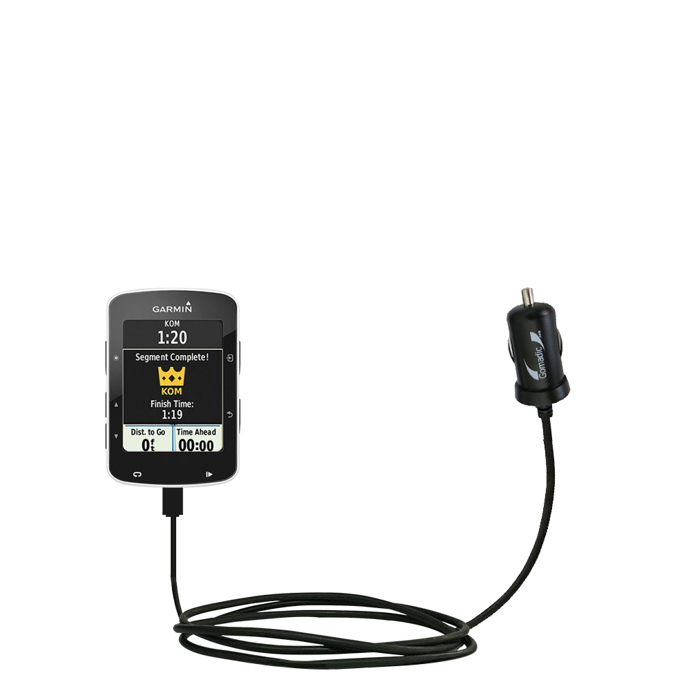 Mini Car Charger compatible with the Garmin EDGE 520