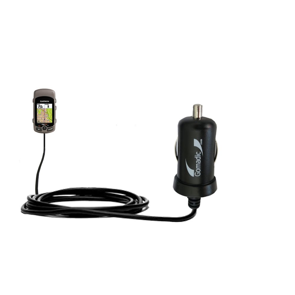 Mini Car Charger compatible with the Garmin Edge 605