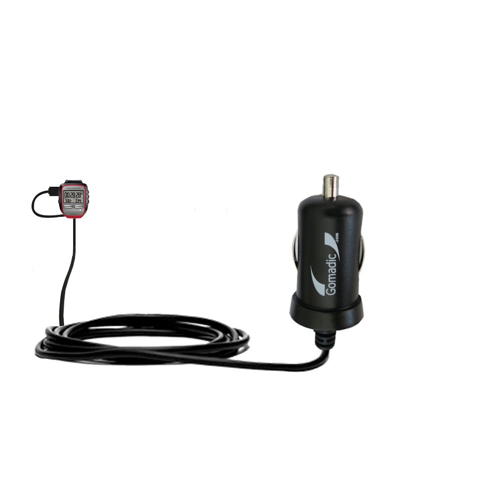 Mini Car Charger compatible with the Garmin Forerunner 205
