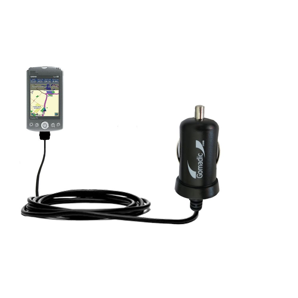 Mini Car Charger compatible with the Garmin iQue M5