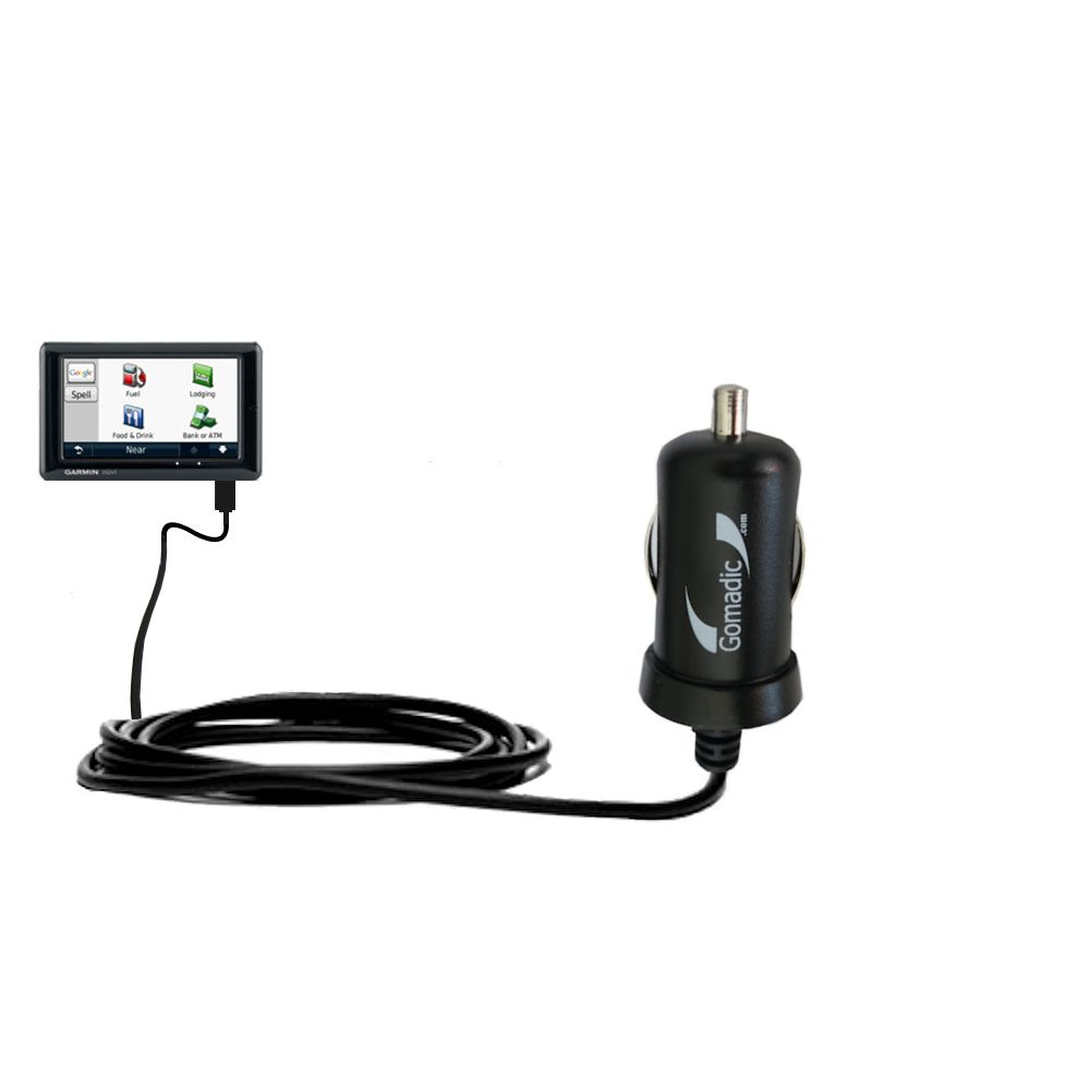 Mini Car Charger compatible with the Garmin Nuvi 1690 1695