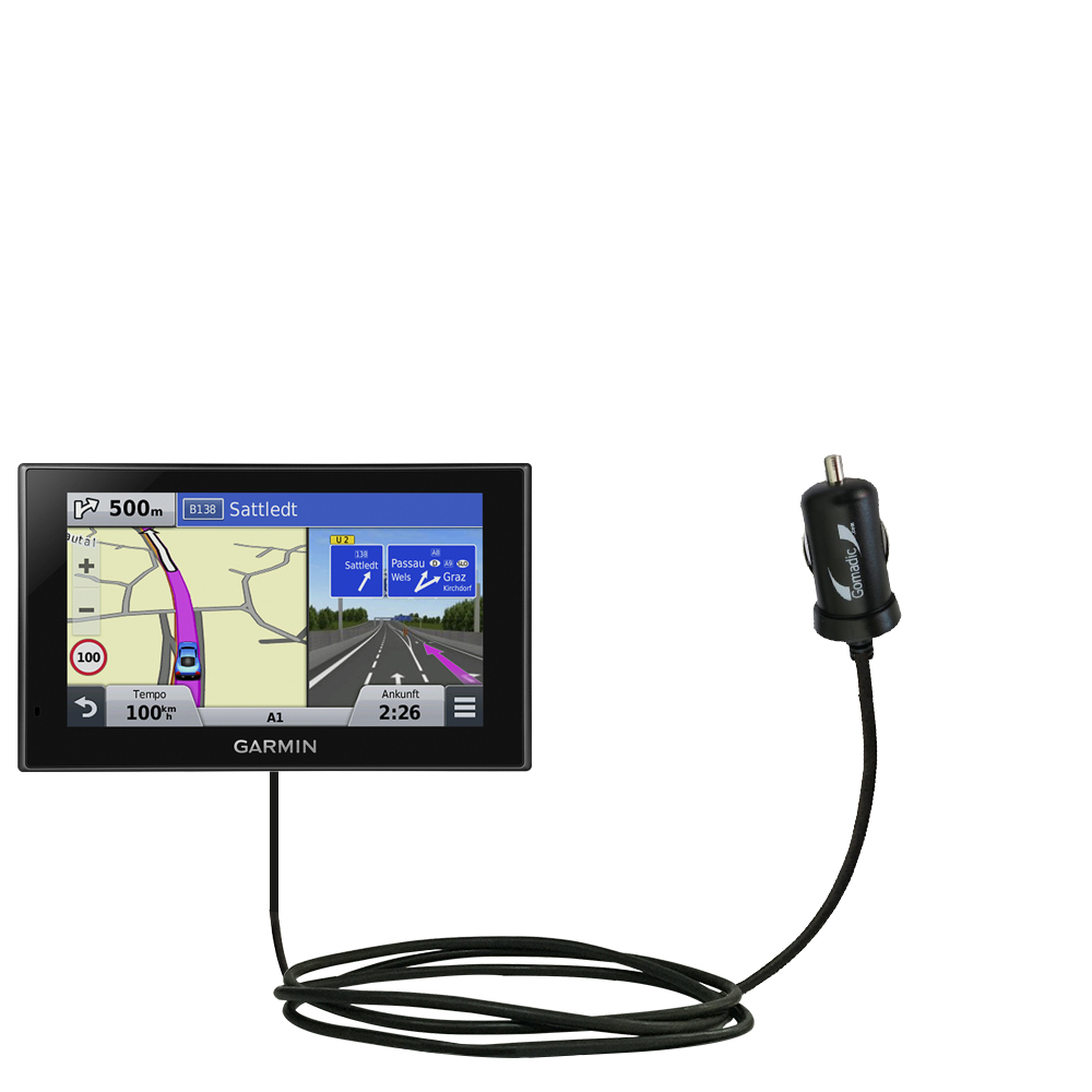 Mini Car Charger compatible with the Garmin nuvi 2789 LMT