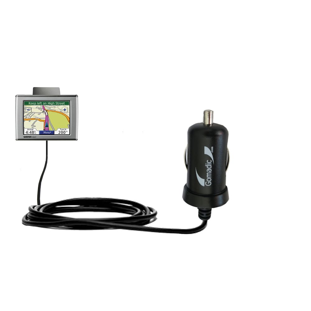 Mini Car Charger compatible with the Garmin Nuvi 370