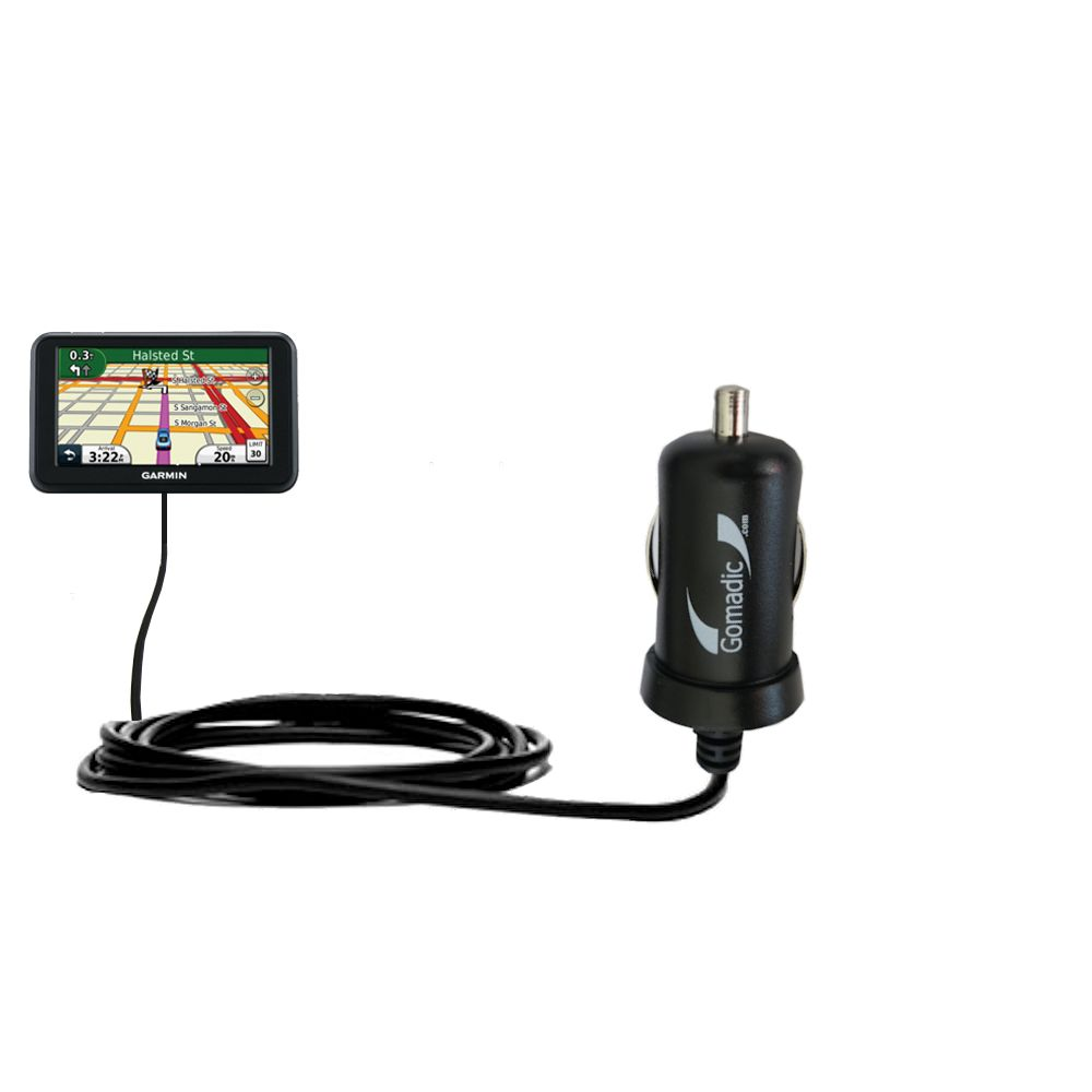 Mini Car Charger compatible with the Garmin Nuvi 40 40LM